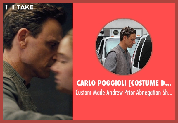 Carlo Poggioli (Costume Designer) gray shirt from Divergent seen with Tony Goldwyn (Andrew Prior)
