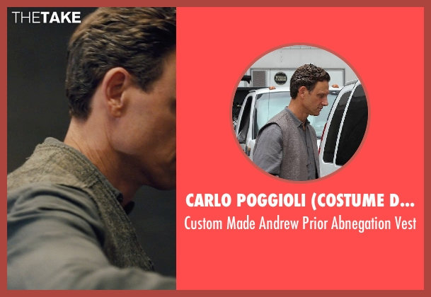 Carlo Poggioli (Costume Designer) gray vest from Divergent seen with Tony Goldwyn (Andrew Prior)