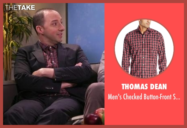 Thomas Dean red shirt from Chelsea seen with Tony Hale