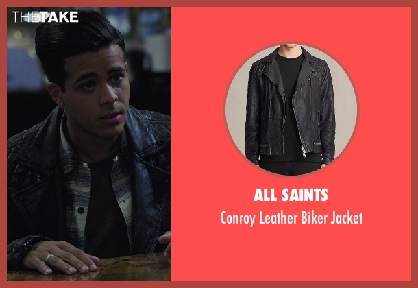 All Saints black jacket from 13 Reasons Why seen with Tony Padilla (Christian Navarro)
