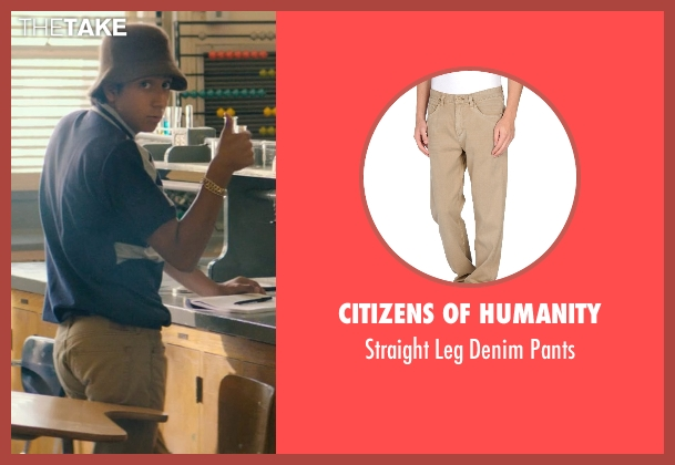 Citizens of Humanity beige pants from Dope seen with Tony Revolori (Jib)
