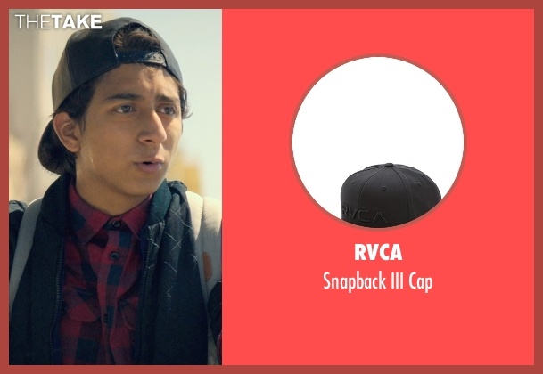 RVCA black cap from Dope seen with Tony Revolori (Jib)