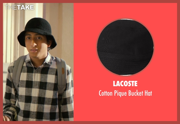 Lacoste black hat from Dope seen with Tony Revolori (Jib)