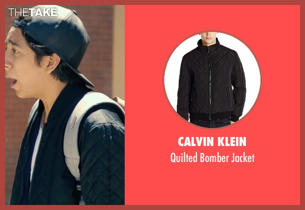 Calvin Klein black jacket from Dope seen with Tony Revolori (Jib)