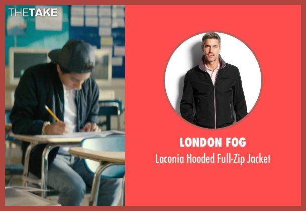London Fog black jacket from Dope seen with Tony Revolori (Jib)