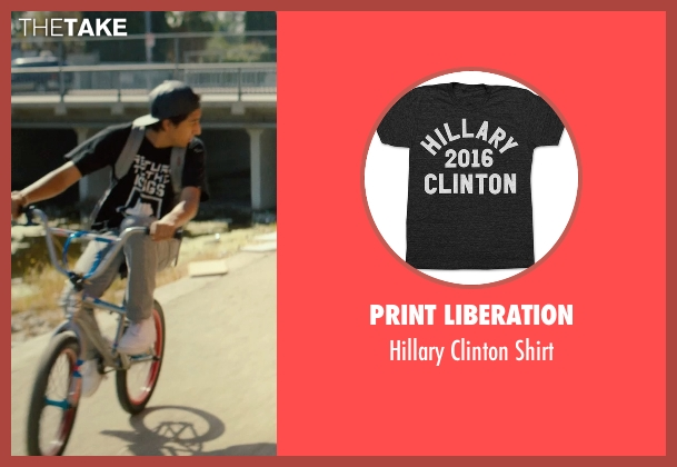 Print Liberation black shirt from Dope seen with Tony Revolori (Jib)