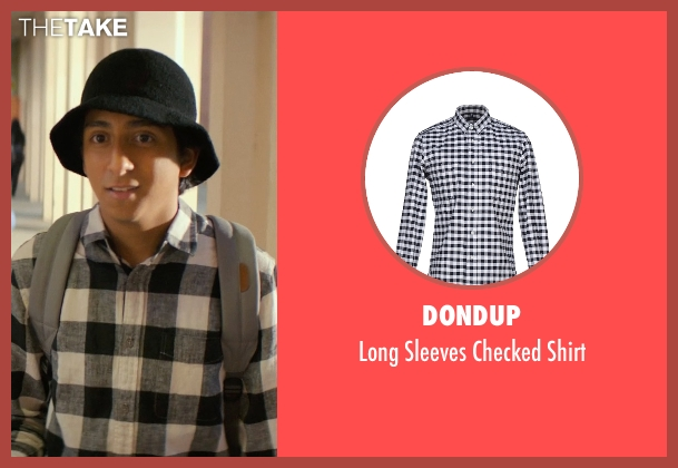 Dondup black shirt from Dope seen with Tony Revolori (Jib)