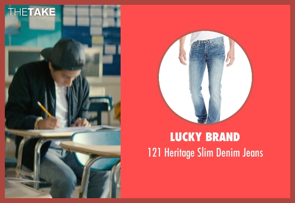 Lucky Brand blue jeans from Dope seen with Tony Revolori (Jib)