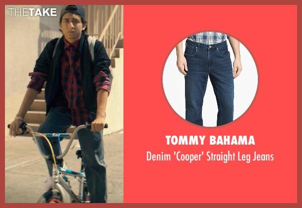 Tommy Bahama blue jeans from Dope seen with Tony Revolori (Jib)