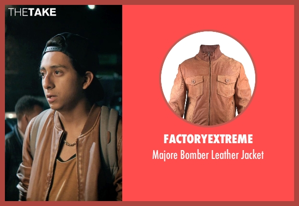 FactoryExtreme brown jacket from Dope seen with Tony Revolori (Jib)