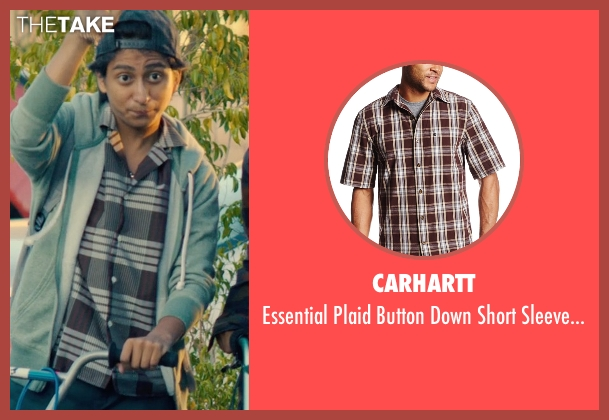 Carhartt brown shirt from Dope seen with Tony Revolori (Jib)