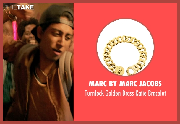 Marc by Marc Jacobs gold bracelet from Dope seen with Tony Revolori (Jib)