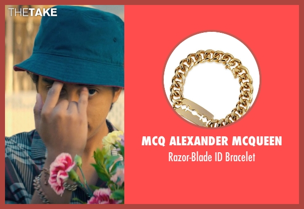 McQ Alexander McQueen gold bracelet from Dope seen with Tony Revolori (Jib)