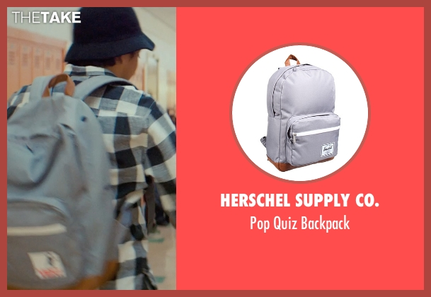 Herschel Supply Co. gray backpack from Dope seen with Tony Revolori (Jib)