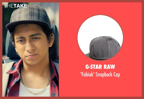 G-Star Raw gray cap from Dope seen with Tony Revolori (Jib)