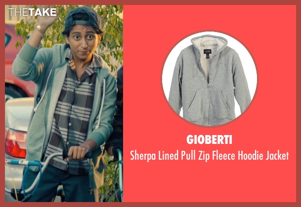 Gioberti gray jacket from Dope seen with Tony Revolori (Jib)