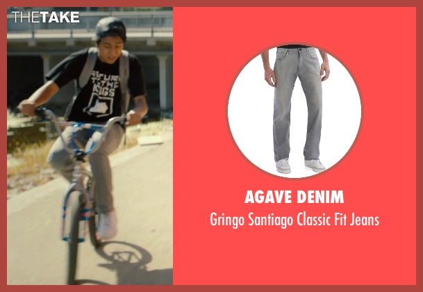 Agave Denim gray jeans from Dope seen with Tony Revolori (Jib)