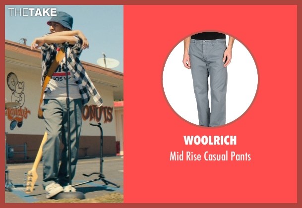 Woolrich gray pants from Dope seen with Tony Revolori (Jib)
