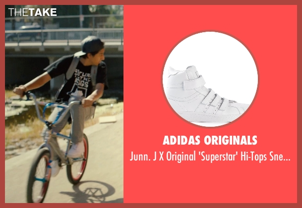 Adidas Originals white sneakers from Dope seen with Tony Revolori (Jib)
