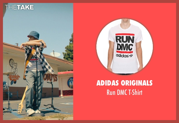 Adidas Originals white t-shirt from Dope seen with Tony Revolori (Jib)