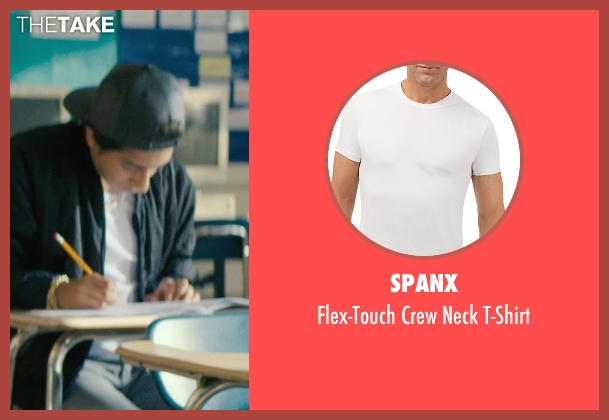 Spanx white t-shirt from Dope seen with Tony Revolori (Jib)