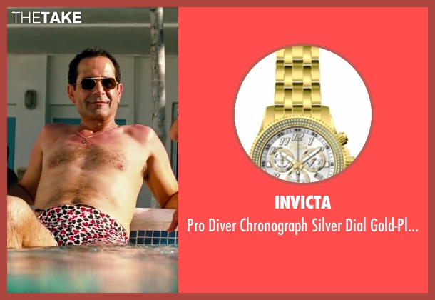 Invicta gold watch from Pain & Gain seen with Tony Shalhoub (Victor Kershaw)