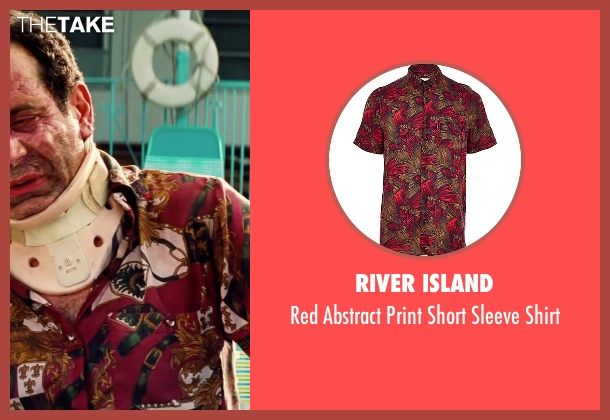 River Island red shirt from Pain & Gain seen with Tony Shalhoub (Victor Kershaw)