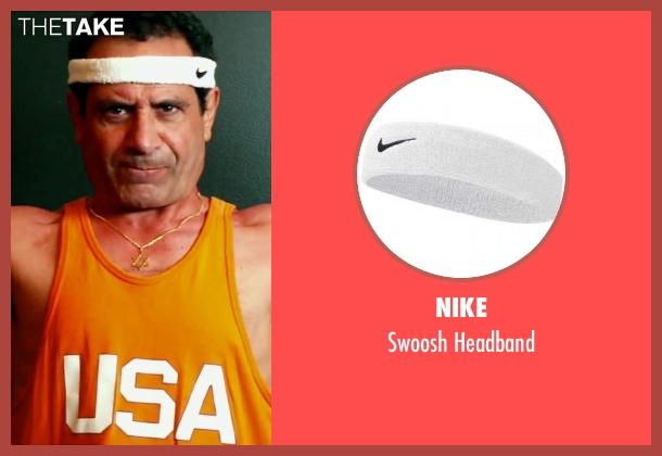 Nike white headband from Pain & Gain seen with Tony Shalhoub (Victor Kershaw)
