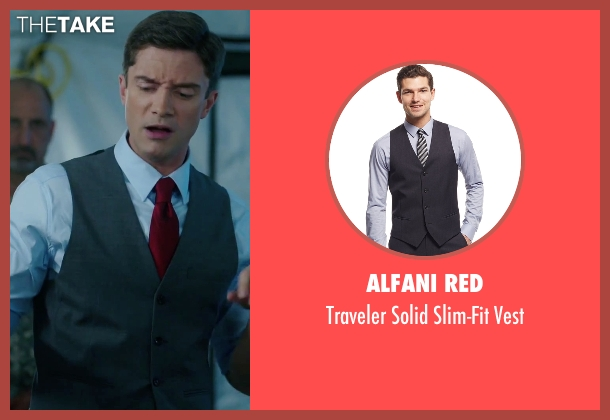Alfani Red gray vest from American Ultra seen with Topher Grace (Adrian Yates)