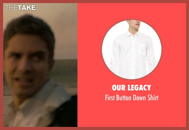 Our Legacy white shirt from Interstellar seen with Topher Grace (Unknown Character)