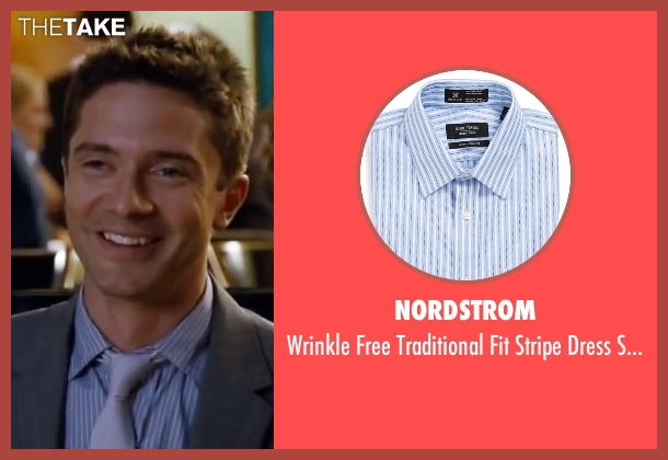 Nordstrom blue shirt from Valentine's Day seen with Topher Grace (Jason)
