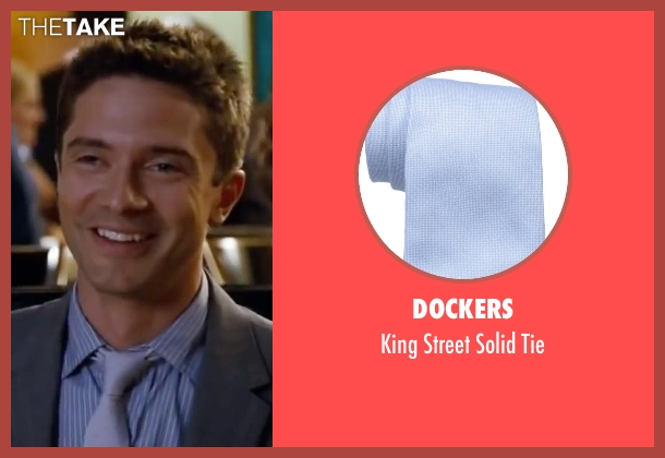 Dockers blue tie from Valentine's Day seen with Topher Grace (Jason)