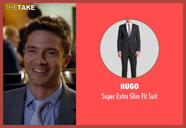 Hugo gray suit from Valentine's Day seen with Topher Grace (Jason)