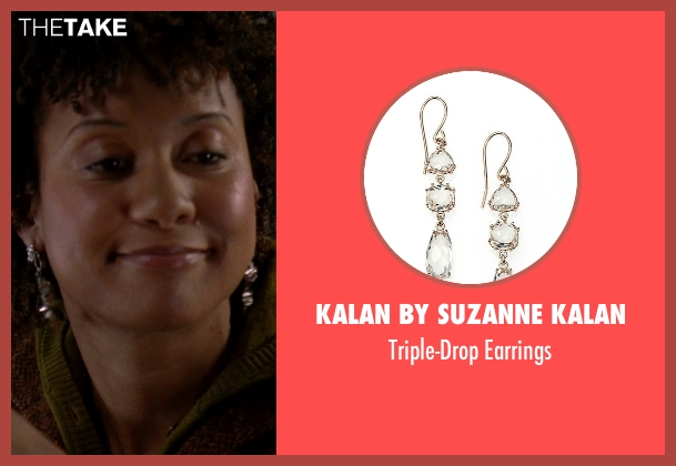 Kalan By Suzanne Kalan white earrings from The Devil Wears Prada seen with Tracie Thoms (Lily)