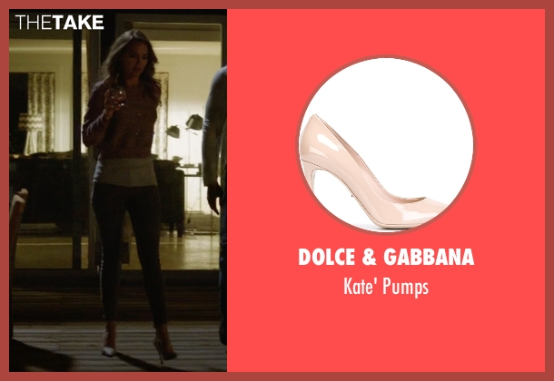Dolce & Gabbana beige pumps from Ballers seen with Tracy Legette (Arielle Kebbel)