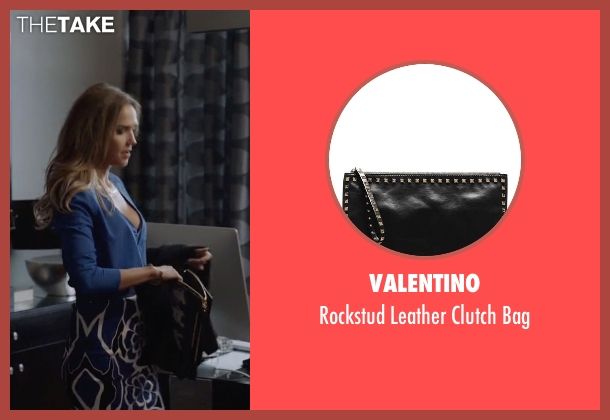 Valentino black bag from Ballers seen with Tracy Legette (Arielle Kebbel)