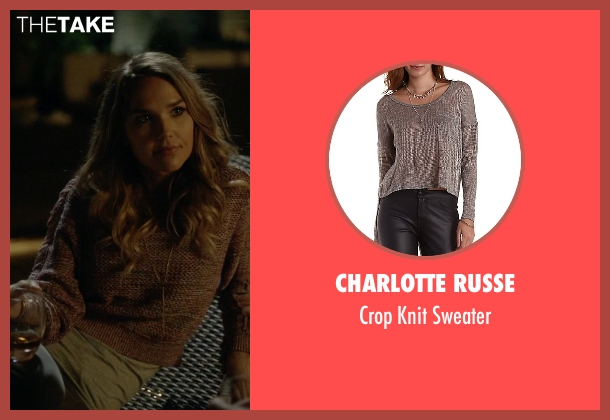 Charlotte Russe brown sweater from Ballers seen with Tracy Legette (Arielle Kebbel)