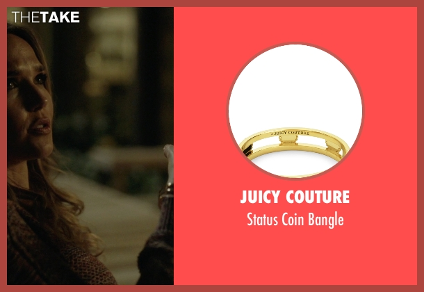 Juicy Couture gold bangle from Ballers seen with Tracy Legette (Arielle Kebbel)