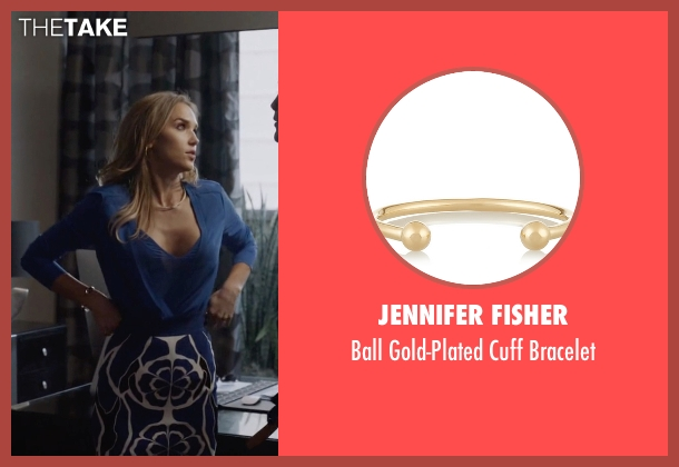 Jennifer Fisher gold bracelet from Ballers seen with Tracy Legette (Arielle Kebbel)
