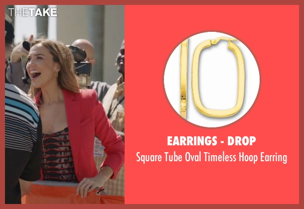 Earrings - Drop gold earring from Ballers seen with Tracy Legette (Arielle Kebbel)