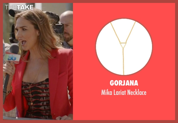 Gorjana gold necklace from Ballers seen with Tracy Legette (Arielle Kebbel)