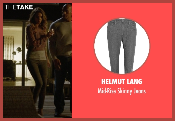 Helmut Lang gray jeans from Ballers seen with Tracy Legette (Arielle Kebbel)