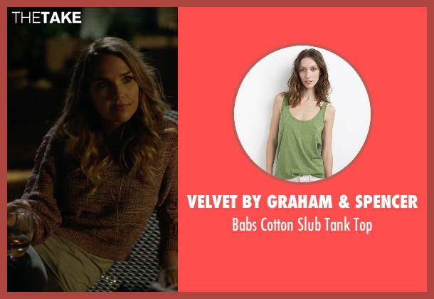 Velvet by Graham & Spencer green top from Ballers seen with Tracy Legette (Arielle Kebbel)