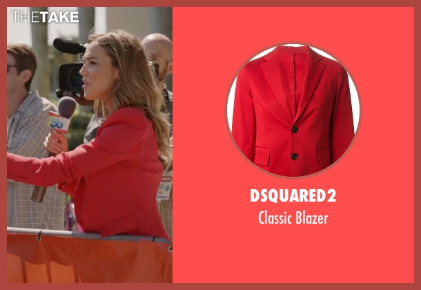 DSquared2 red blazer from Ballers seen with Tracy Legette (Arielle Kebbel)