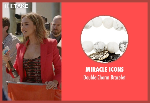 Miracle Icons white bracelet from Ballers seen with Tracy Legette (Arielle Kebbel)