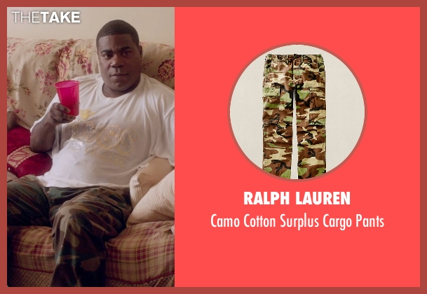 Ralph Lauren brown pants from Top Five seen with Tracy Morgan (Fred)