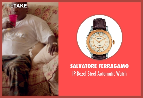 Salvatore Ferragamo	 brown watch from Top Five seen with Tracy Morgan (Unknown Character)