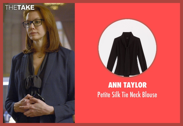 Ann Taylor black blouse from Quantico seen with Tracy Preston (Andrea Frankle)