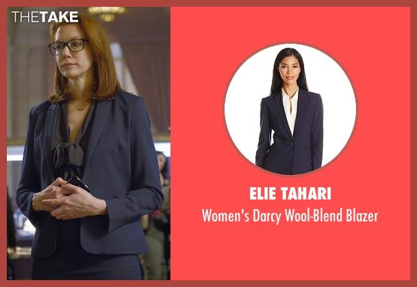 Elie Tahari blue blazer from Quantico seen with Tracy Preston (Andrea Frankle)