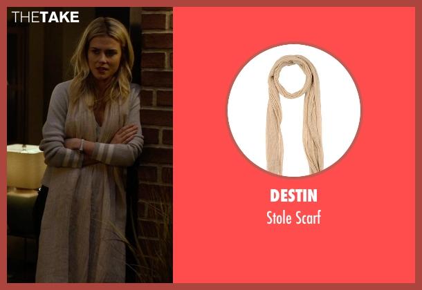 Destin beige scarf from Jessica Jones seen with Trish Walker (Rachael Taylor)